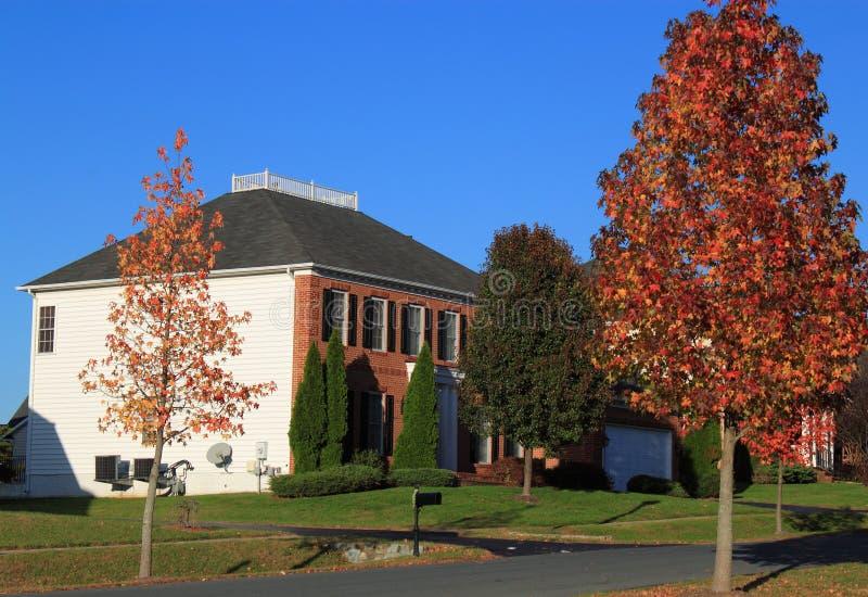 Autumn Family House stock foto's