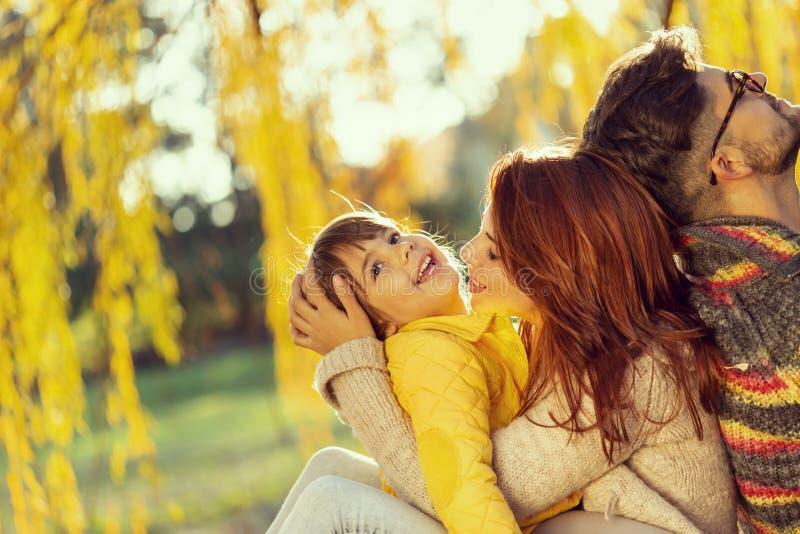 Autumn family joy royalty free stock photos