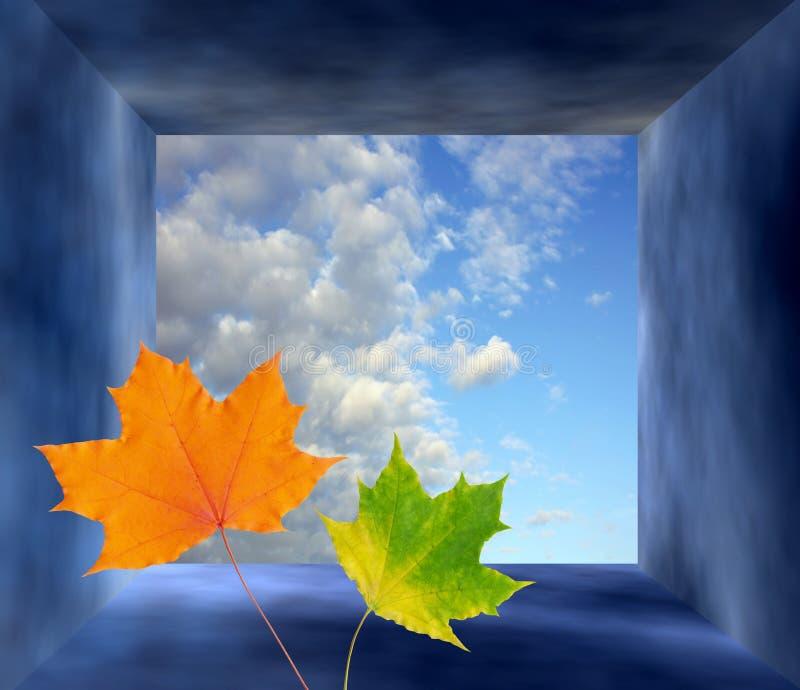 Autumn fantasy frame stock image