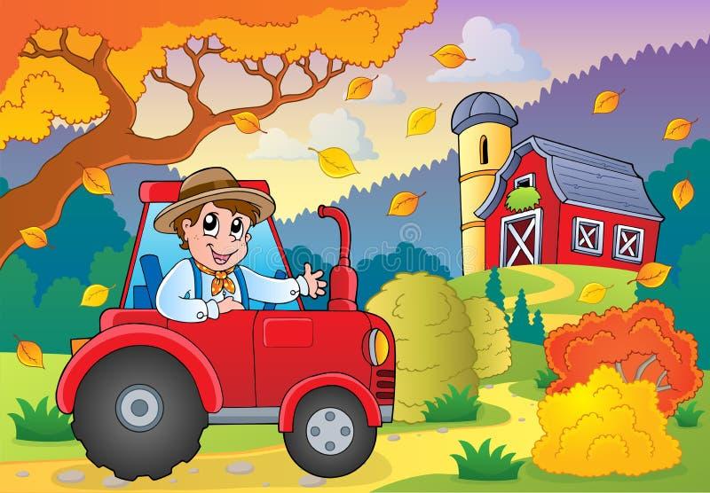 Autumn farm theme 5 royalty free illustration