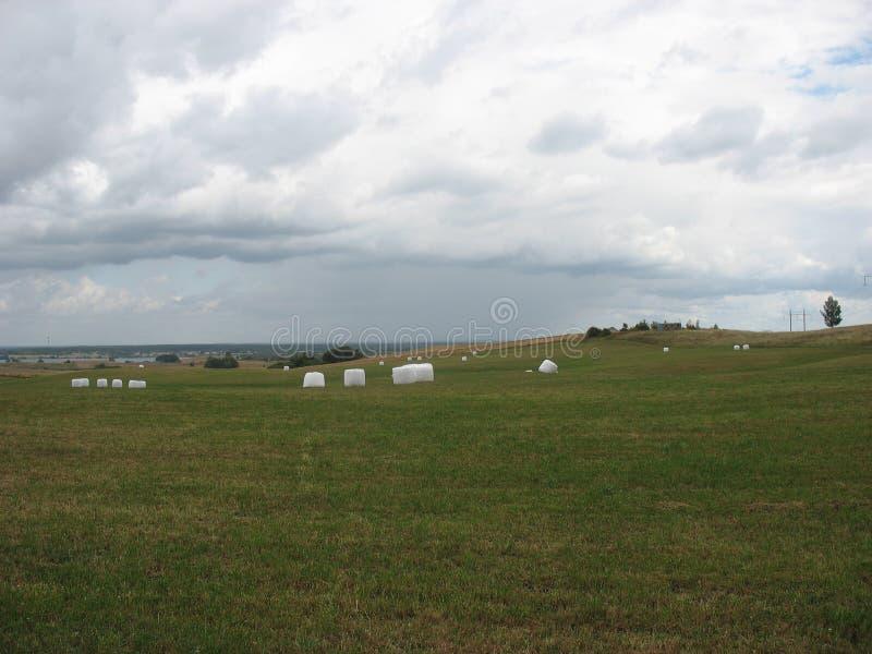 Autumn in farmers' fields stock photo