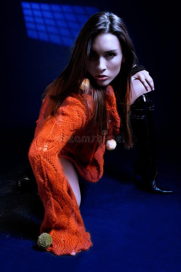 Download Autumn fashion portrait stock image. Image of legs, face - 2970805