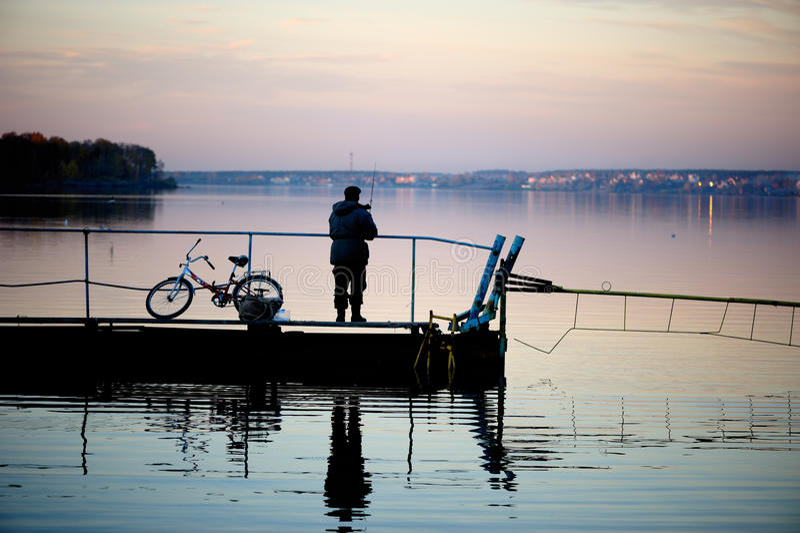 Autumn Fishing Stock Photo