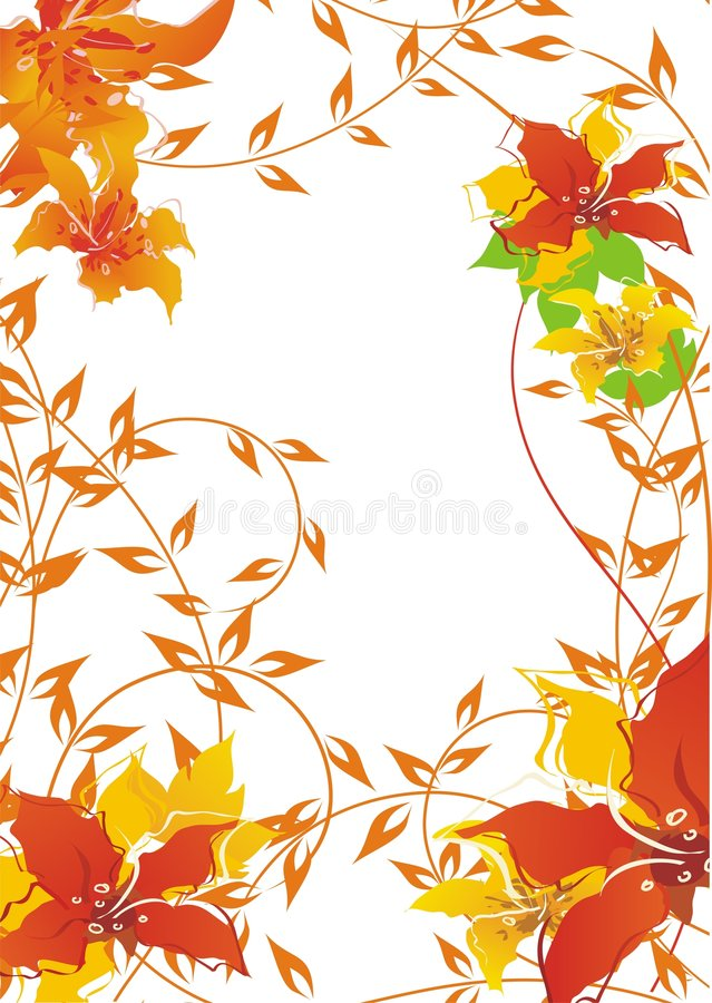 Free Autumn Floral Background Royalty Free Stock Photography - 4448407