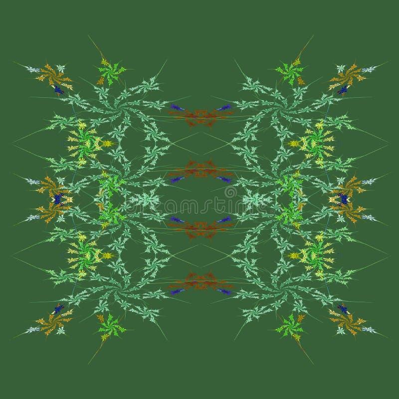 Download Autumn Floral Fractal Background Stock Illustration - Image: 11105245