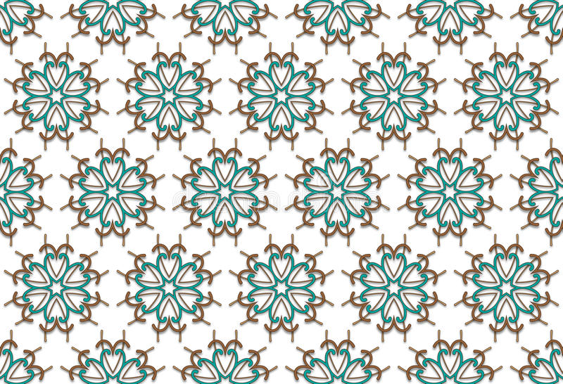 Autumn floral pattern royalty free illustration