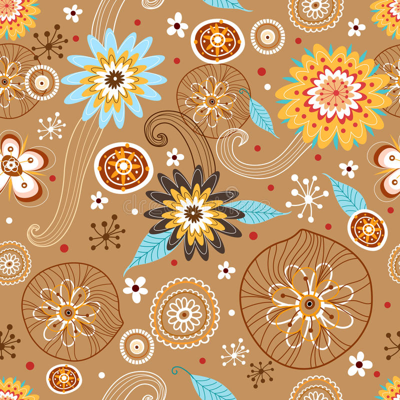 Autumn Flower seamless pattern vector illustration