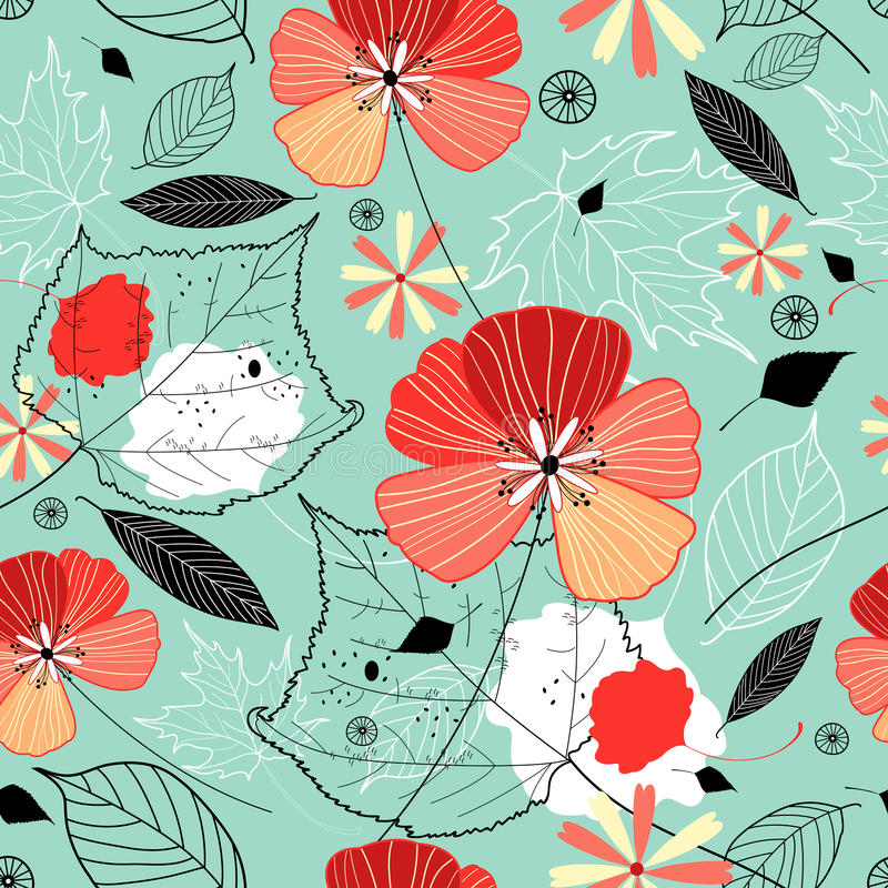 Autumn flower texture royalty free illustration