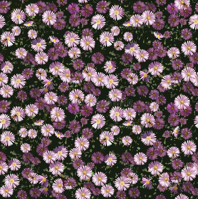 Autumn Flowers Pattern royaltyfri illustrationer