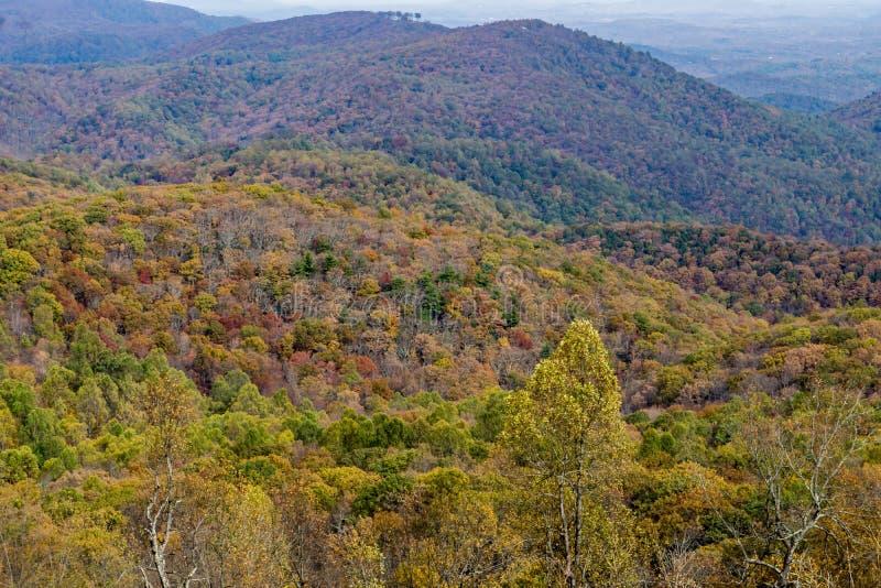 Autumn Foliage in the Blue Ridge Mountains stock photo