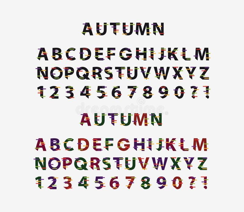 Autumn Font, ejemplo del vector stock de ilustración