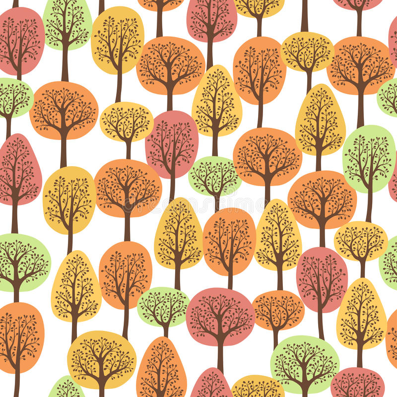 Autumn forest royalty free illustration