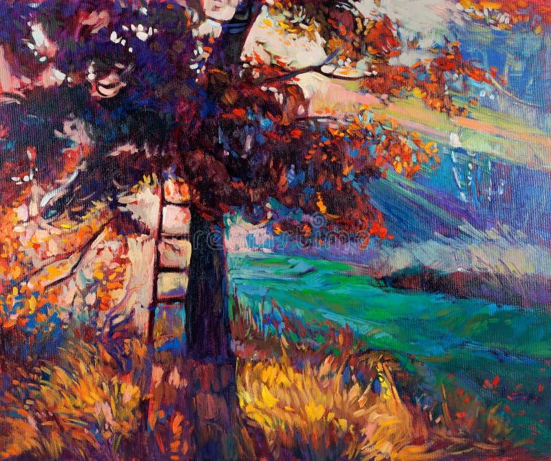 Autumn forest stock illustration