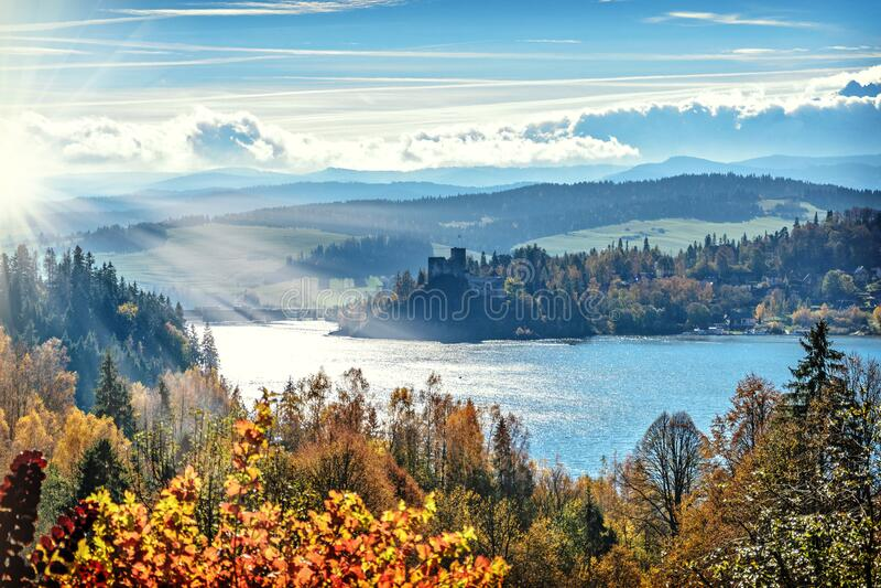 Autumn Forest Along Lake Free Public Domain Cc0 Image