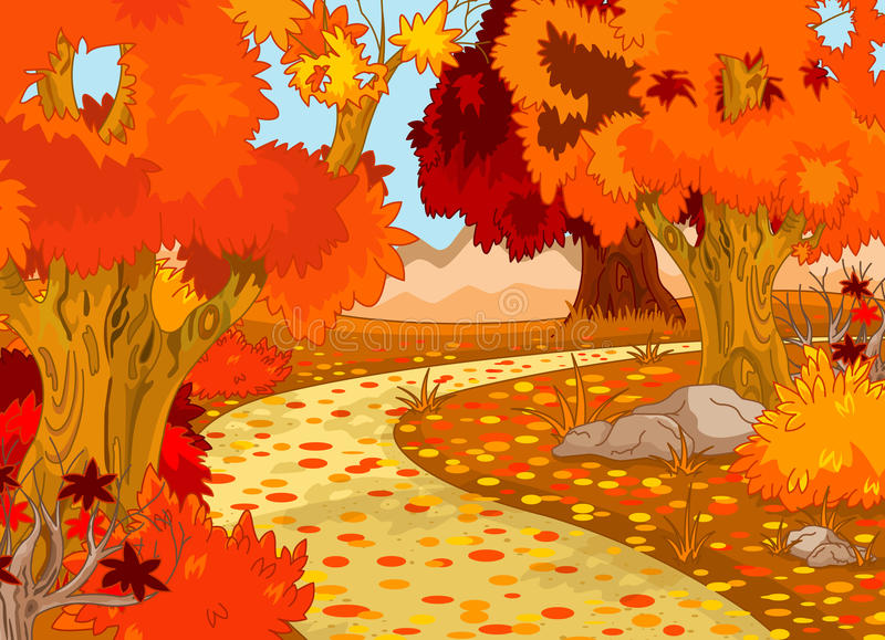 Download Autumn Forest Landscape stock vector. Image of outdoor - 27685300