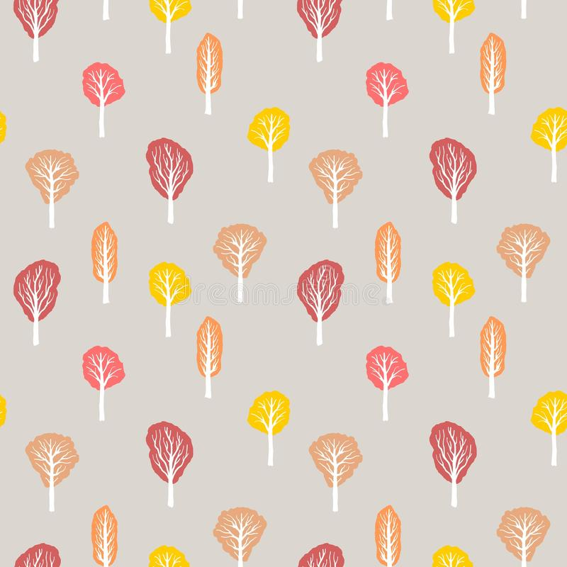 Autumn forest texture vector illustration
