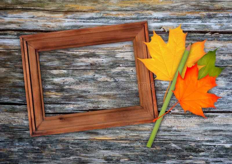 Download Autumn frame stock image. Image of cardboard, anniversary - 26666495