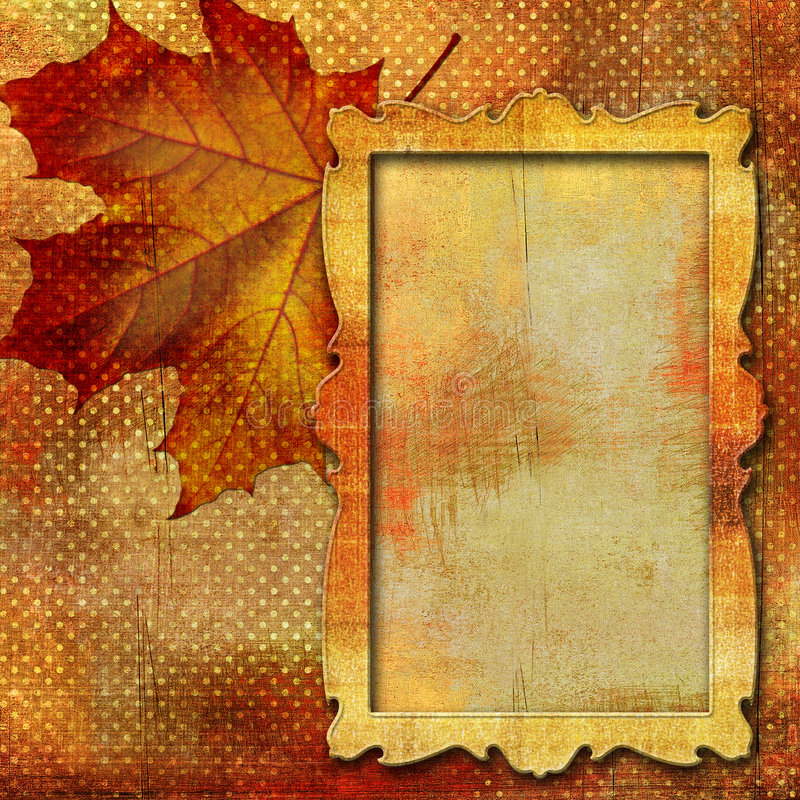 Download Autumn frame stock illustration. Image of colour, maple - 6816034