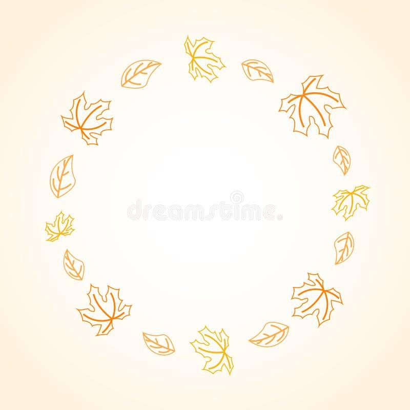 Autumn frame vector illustration