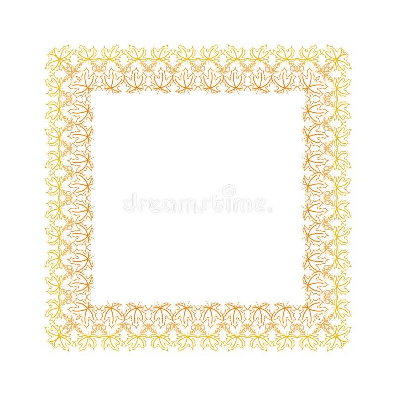 Autumn frame royalty free illustration