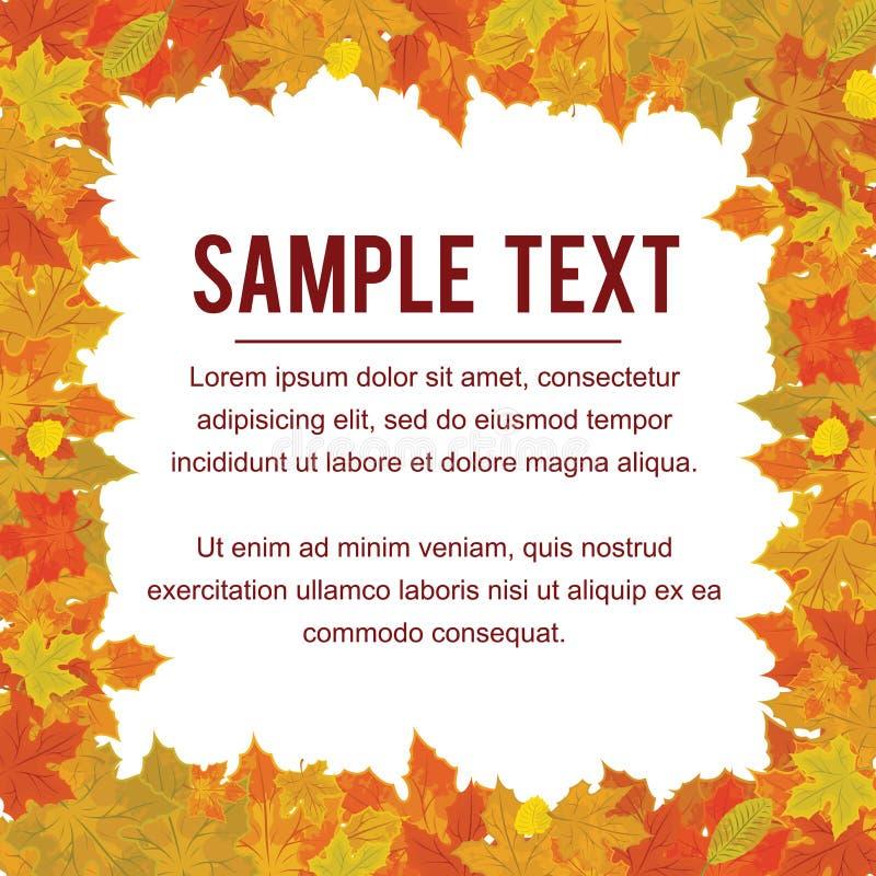 Autumn Frame de feuillage de chute Vecteur de conception illustration libre de droits