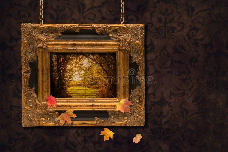 Download Autumn Frame stock image. Image of blank, golden, gate - 31522923