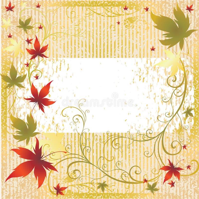 autumn frame leafs thanksgiving vector 皇族释放例证