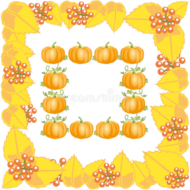 Download Autumn Frame With Leaves And Pumpkin Stock Photo - Image: 33938226
