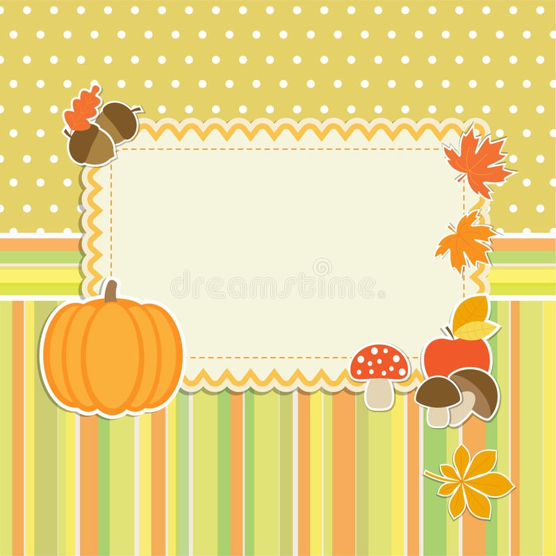 Download Autumn frame with pumpkin stock vector. Image of invitation - 27370518