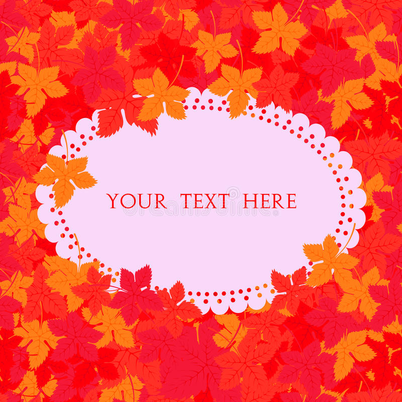 Autumn frame. Vector background. Vector illustration. Floral vector pattern. Fashion Graphic Design for your text. Bright colors. Leaves. Template for prints vector illustration