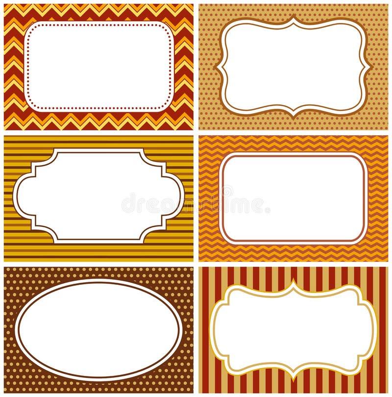 Autumn Frames royalty-vrije illustratie