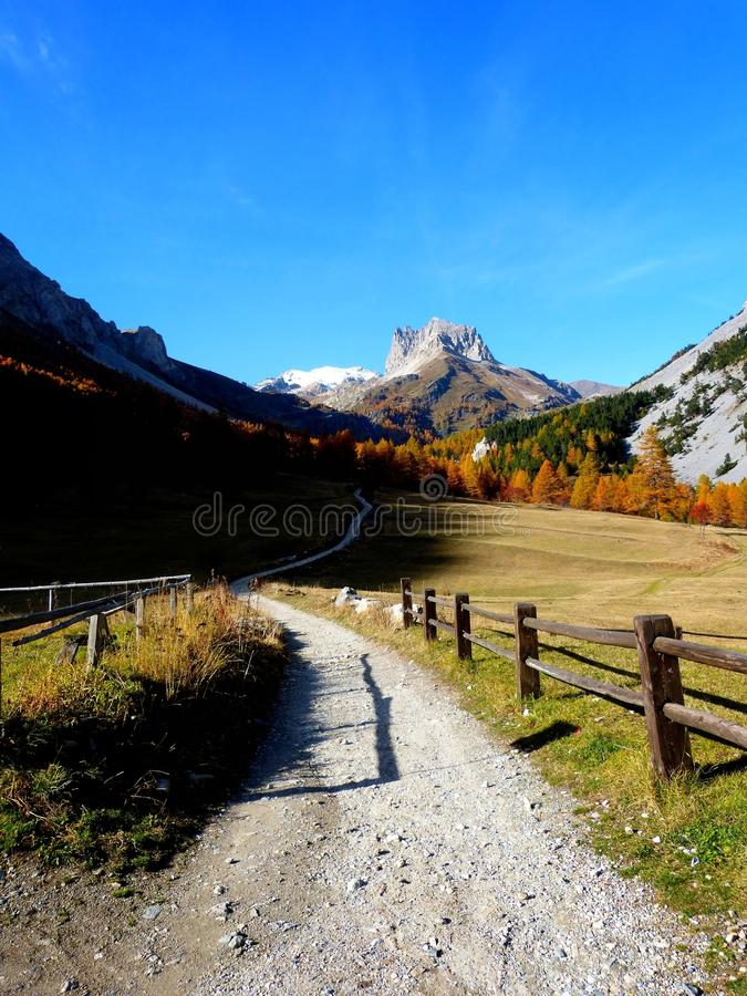 Autumn in the French Alps royalty free stock photography