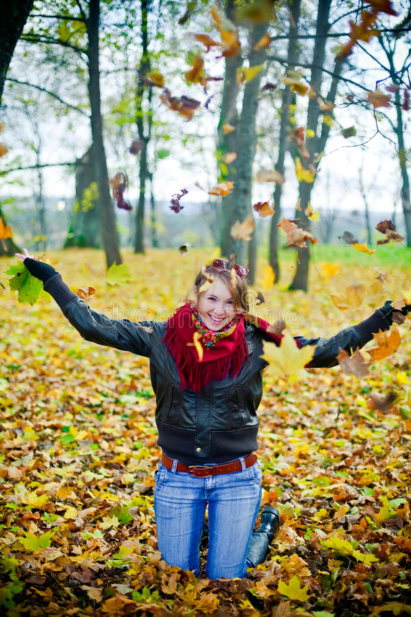 Autumn Fun Royalty Free Stock Photo