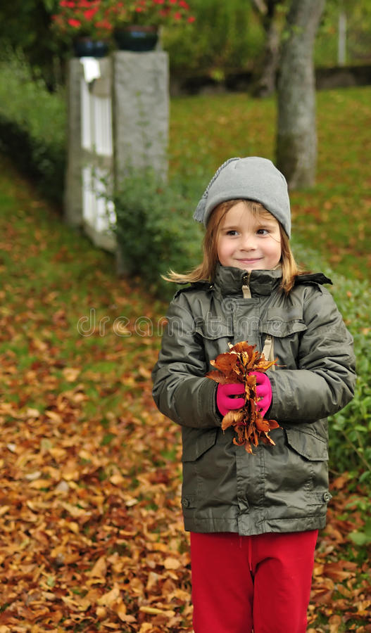 Download Autumn fun with list stock photo. Image of orange, fall - 16339262