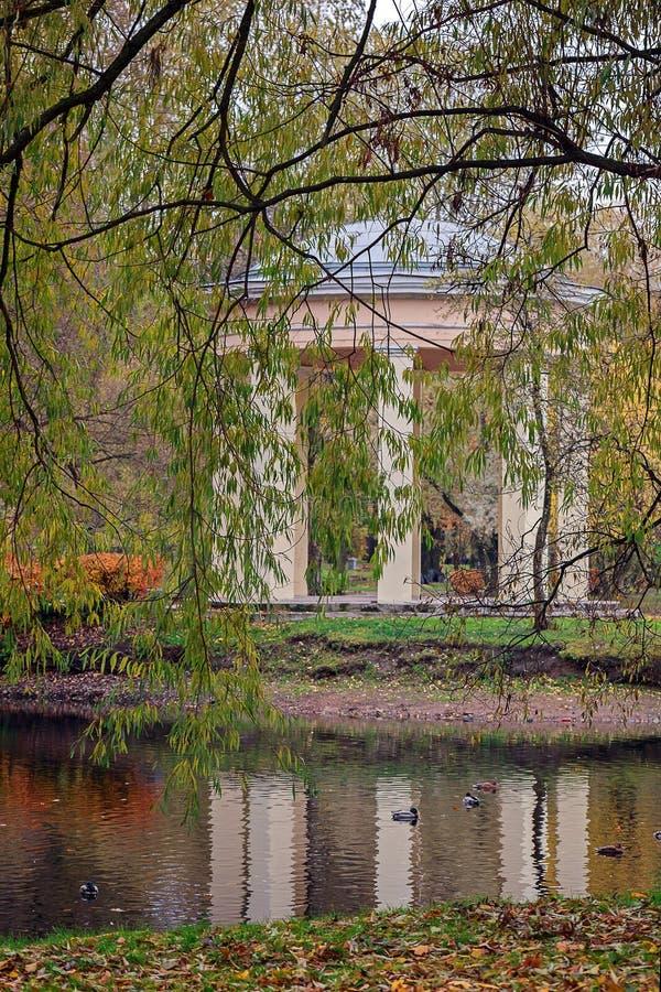 Autumn. Gazebo near the water. royalty free stock images