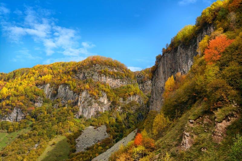 Autumn Georgian berg royaltyfri bild