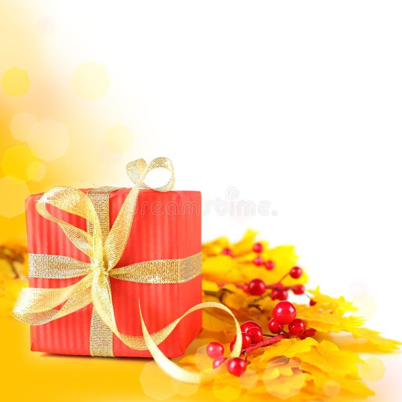 Autumn Gift Border Royalty Free Stock Photo