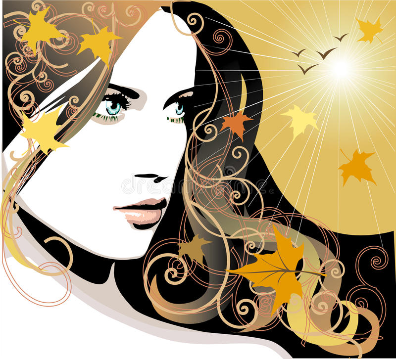Download Autumn girl stock vector. Image of elegant, fantasy, female - 10010932