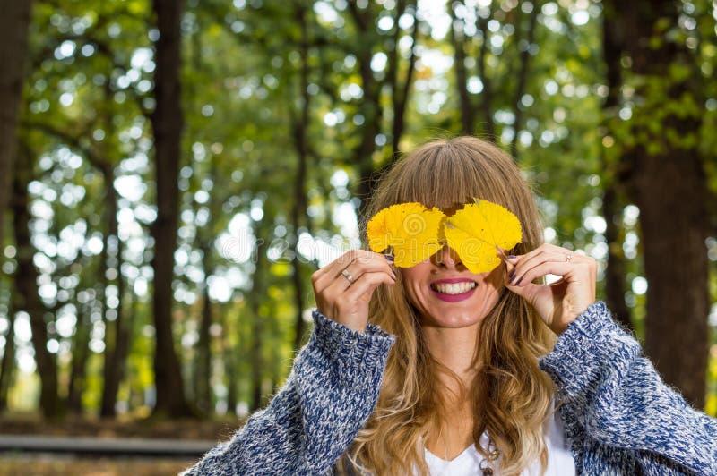 Autumn Girl royalty-vrije stock foto