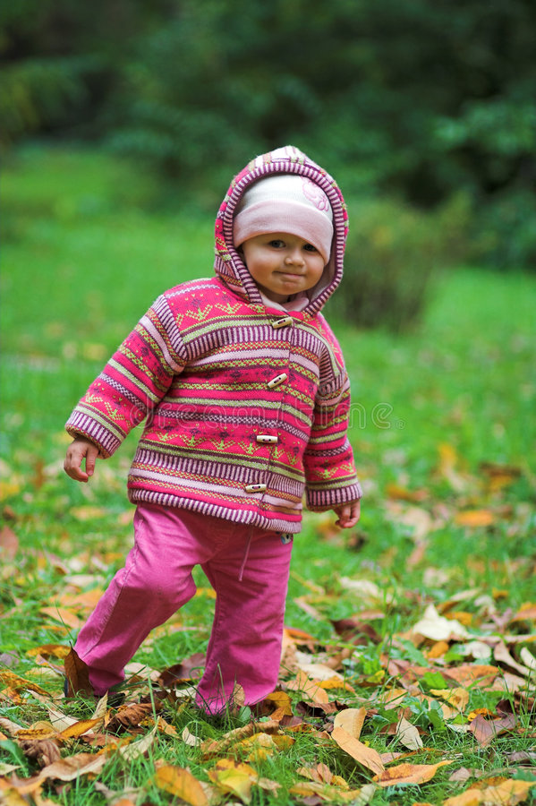 Download Autumn girl stock image. Image of meadow, outdoor, girl - 1439201