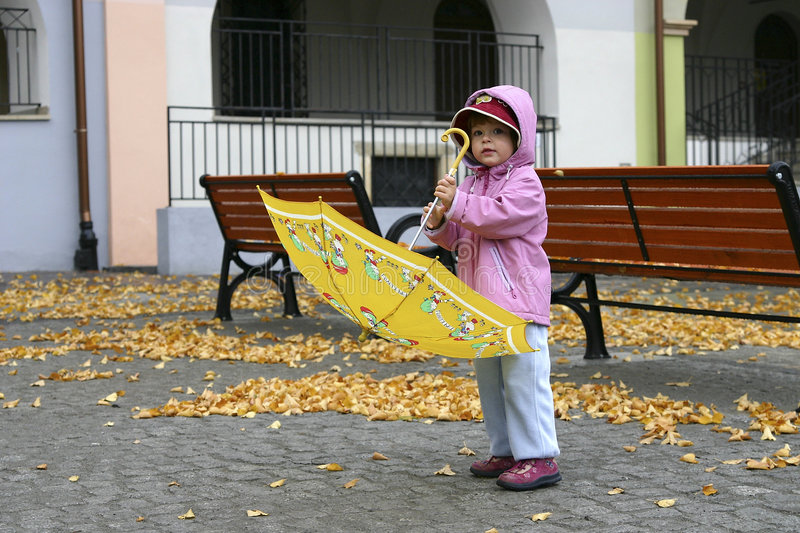 Autumn girl stock images