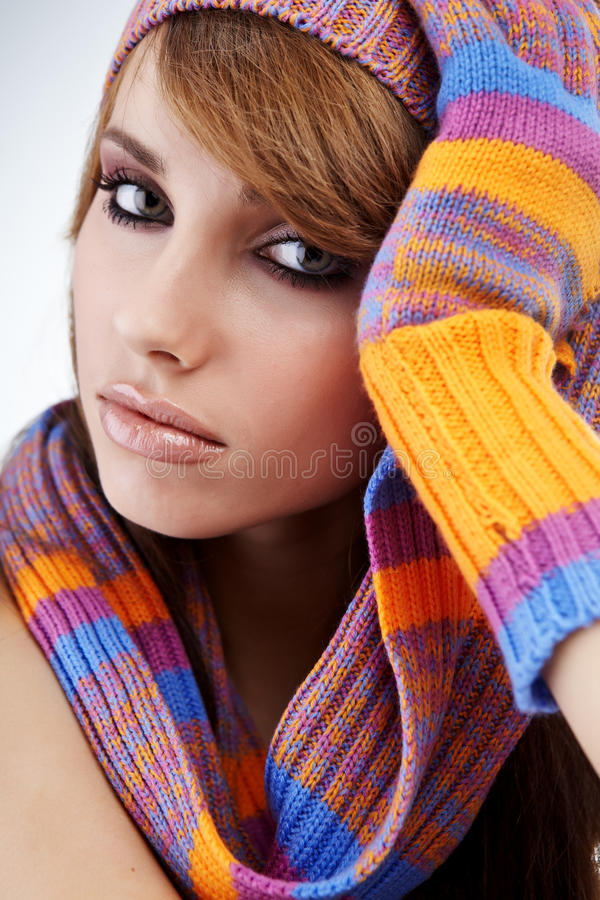 Download Autumn girl stock photo. Image of happiness, portrait - 16401666