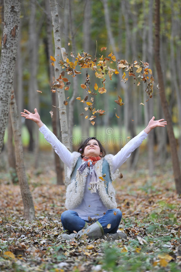 Download Autumn girl stock photo. Image of beautiful, season, colorful - 22121466