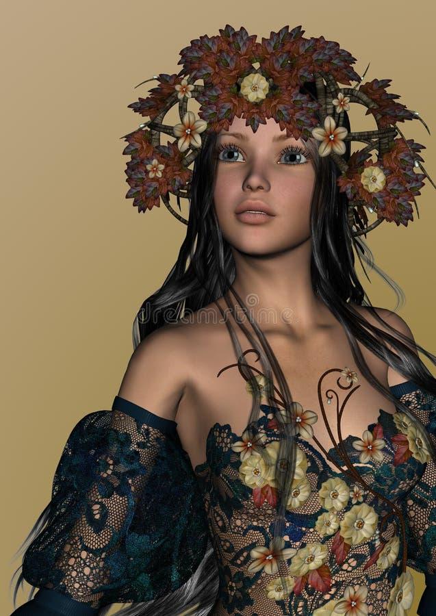Autumn Girl royalty-vrije illustratie