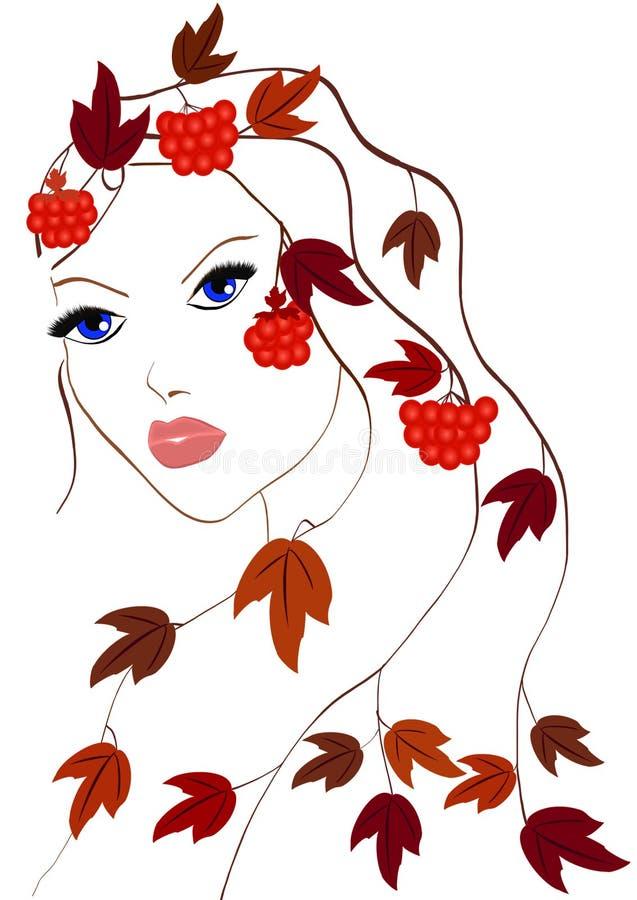 Autumn Girl libre illustration