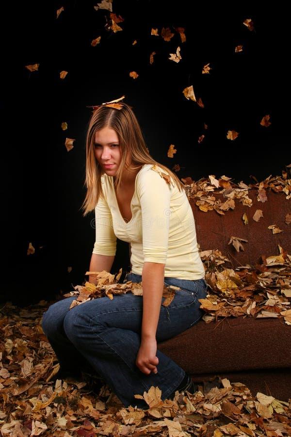Autumn Girl immagine stock