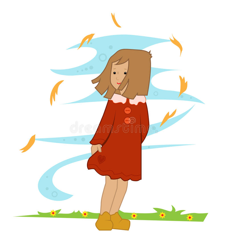 Autumn Girl vector illustratie