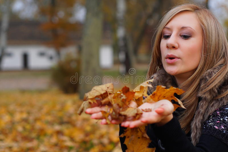 Autumn Girl stockbilder