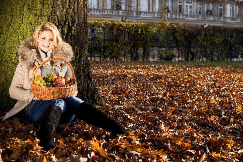 Autumn Girl fotografie stock