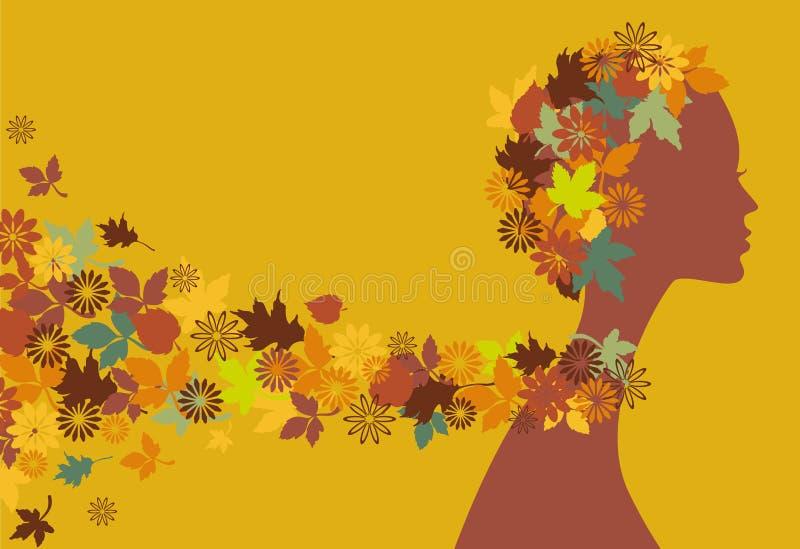 Download Autumn girl stock vector. Illustration of blossom, design - 6588001